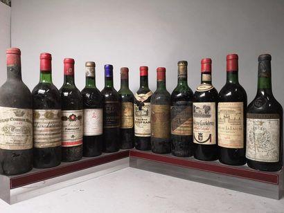 12 bouteilles BORDEAUX VIEUX MILLESIMES A...