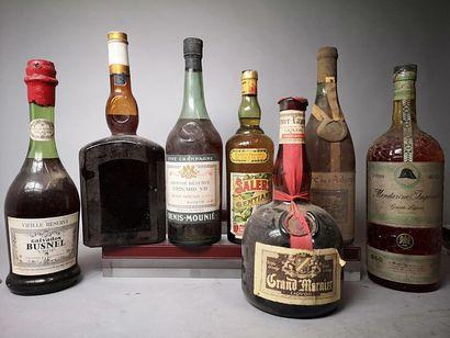 7 ALCOOLS ET EAUX DE VIE DIVERS ANNEES 70...