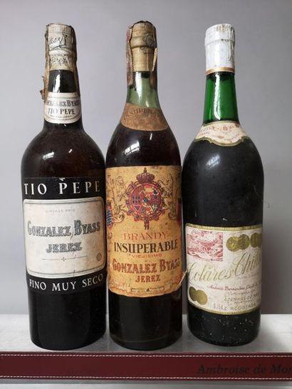 3 EAUX DE VIE et VINS D'Espagne - Portugal...