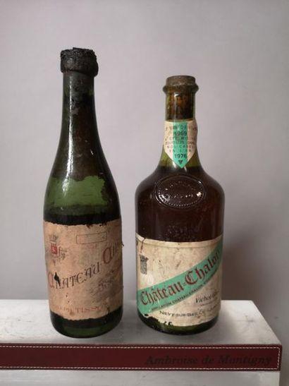 2 bouteilles VINS DE JURA A VENDRE EN L'ETAT...