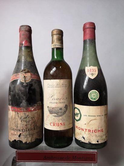 3 bouteilles VINS ANCIENS France A VENDRE...