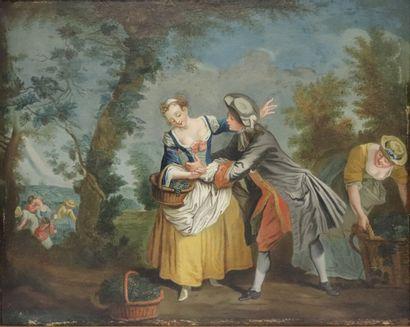 Ecole française vers 1800.  Les délices des...