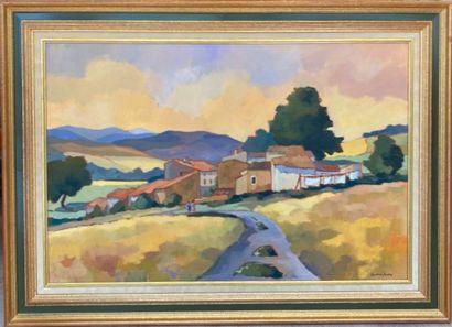 Lorraine JORDAN (1941).  Village de campagne....