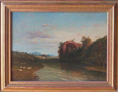 William LINTON (1791-1876).  A roman river...