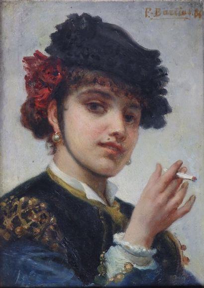 Félix Joseph BARRIAS (1822-1907).  Espagnole...