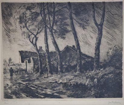 Joseph DELFOSSE (1888-1970).  Pluie et vent,...