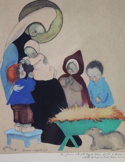 Josette BOLAND (née en 1920).  Vierge de...