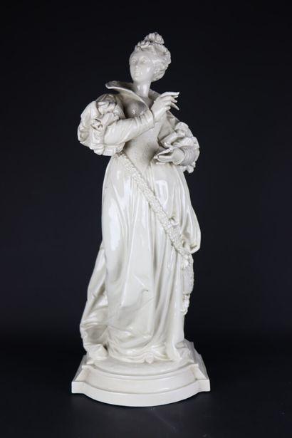 Paul DUBOY (1830-c.1887).  Femme de la Renaissance...
