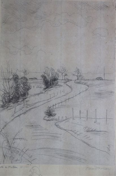 Jean DONNAY (1897-1992).  Route de M...?,...