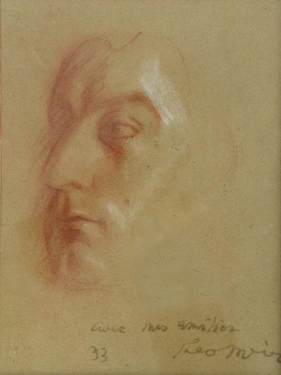 Theo MEIER (1908-1982).  Portrait de Gabriel...