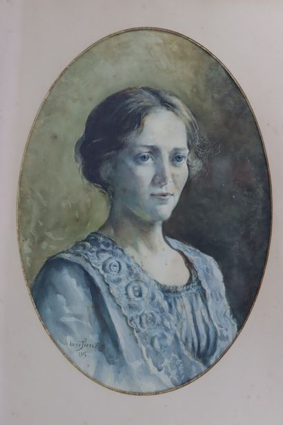 Lucy Valentine PIERCE (1887-1974).  Portrait...