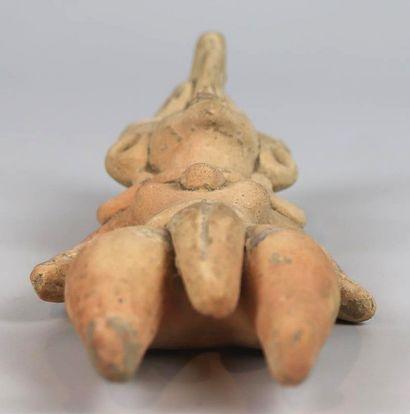 COPIE d'une statuette en terre cuite du Mexique.  H_19 cm.