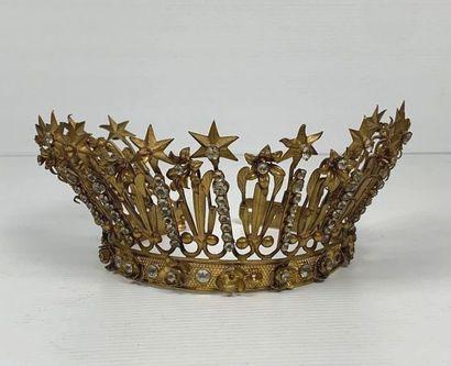 Demie-couronne de statuaire religieuse en...