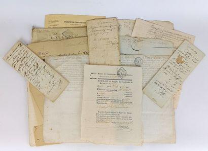 Ensemble de documents manuscrits du XVIIème,...
