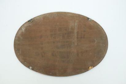 Surtout de table en métal argenté, à fond de miroir.  Style Louis XVI.  L_50,5 cm,...