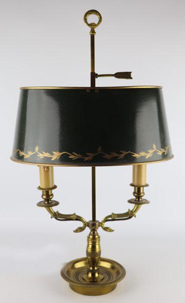 Lampe bouillotte à deux bras de lumière en...