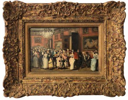 Ecole Française fin XIXe siècle.  Scène de...