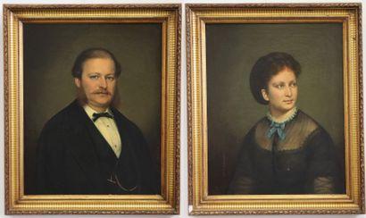 Jean Baptiste BONJOUR (1801-1882).  Portrait...