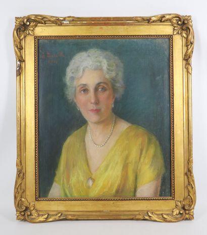Jeanne BATAILLE (1889-?).  Portrait de femme....