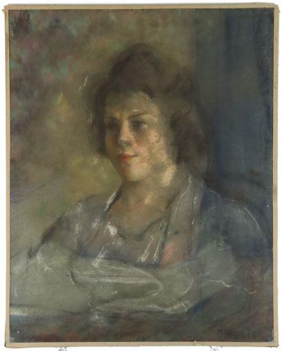 Paul-Elie GERNEZ (1888-1948).  Portrait de...