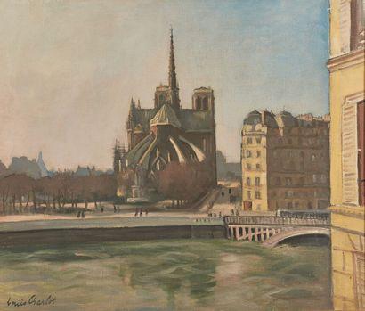 Louis CHARLOT (1878-1951).  Notre Dame de...