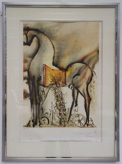 Salvador DALI (1904-1989).  Les chevaux daliniens,...
