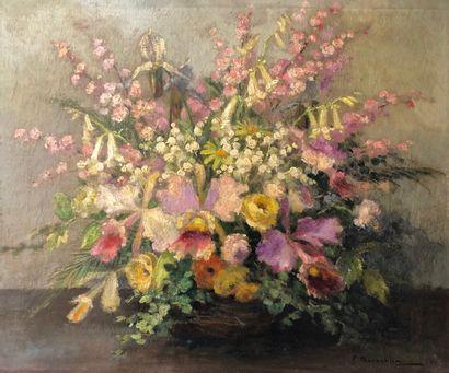 Pierre Laurent BAESCHLIN (1886-1958).  Bouquet...