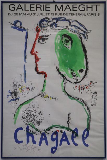 Marc CHAGALL (1887-1985).  Affiche pour l'exposition...