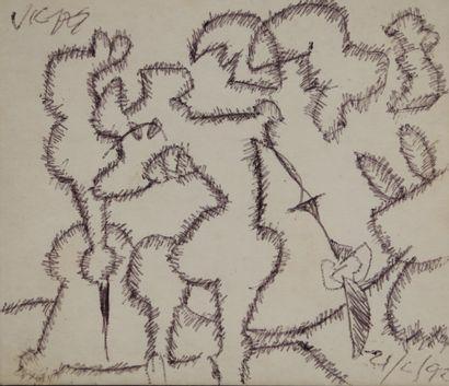 Oswaldo VIGAS (1926-2014).  Composition....