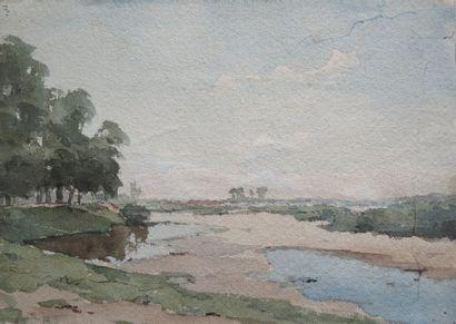 Auguste BERTHAULT (1862-1942).  Les bords...