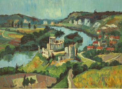 Francis AUDET (1914-1963).  Château Gaillard,...