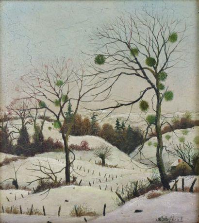 Michel BESZIE (né en 1940).  Les arbres au...