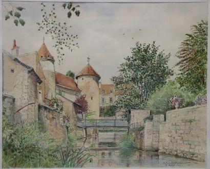 Charles BOSSU (1911-1993).  Corbigny, les...