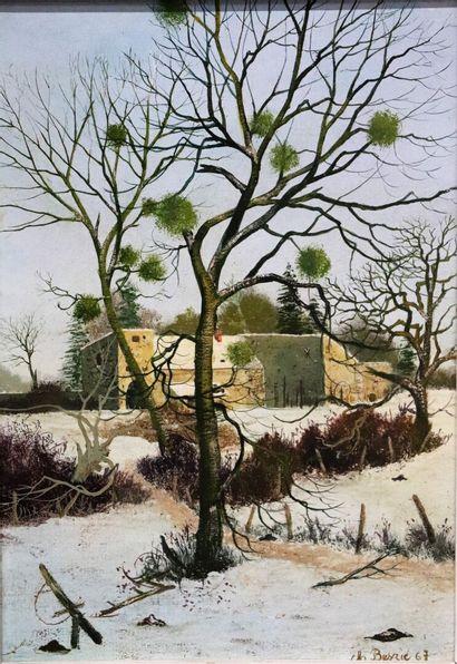 Michel BESZIE (né en 1940).  La vieille ferme...