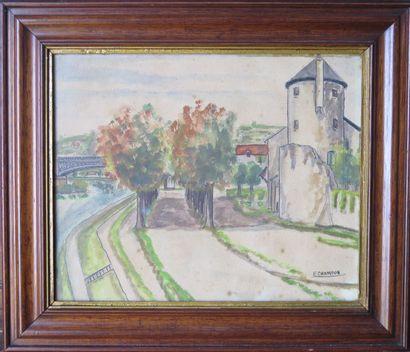 Emile CHAMBON (1902 - 1959).  Nevers, la...
