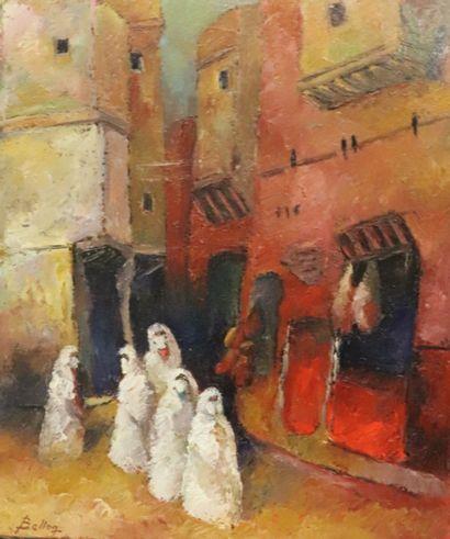 Pierre BELLON (1930-2009).  Femmes aux portes...
