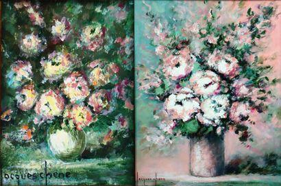 Jacques CHENE (né en 1923).  Bouquets de...