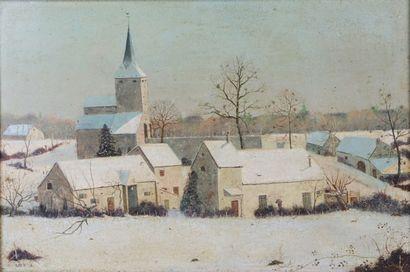 Michel BESZIE (né en 1940).  Village nivernais...