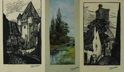 Marcelle BOURRY (1912-1992).  Ensemble de...