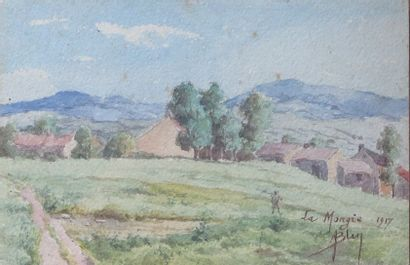 Aimé BLIN (1872-1944).  La Mongie, 1917....