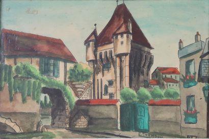 Emile CHAMBON (1902-1959).  La Porte du Croux....