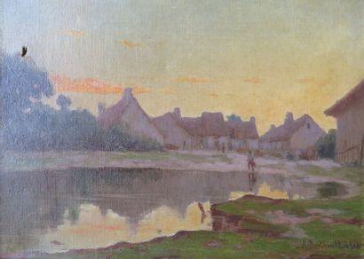 Auguste BERTHAULT (1862-1942).  Rémeron,...