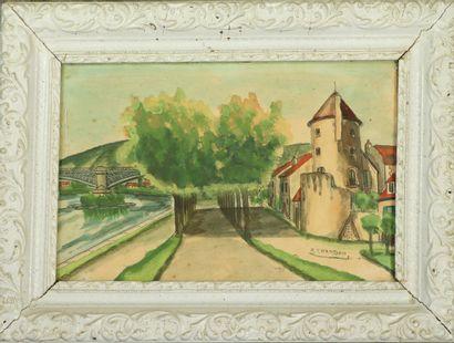 Emile CHAMBON (1902-1959).  Nevers, la Tour...