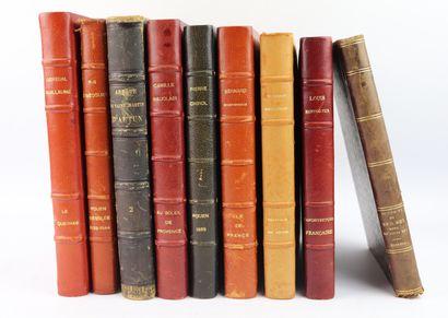 [REGIONALISME].  Ensemble de 9 ouvrages comprenant...