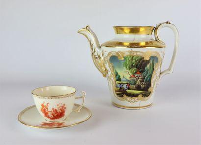 Ensmble de porcelaines allemandes comprenant...
