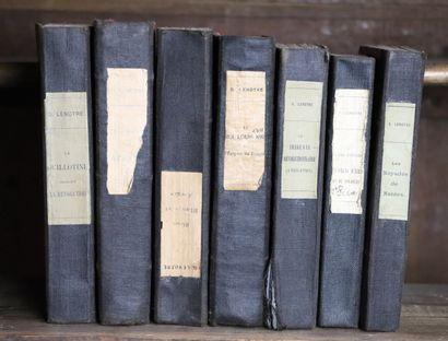 G. LENOTRE.  Ensemble de sept ouvrages de...