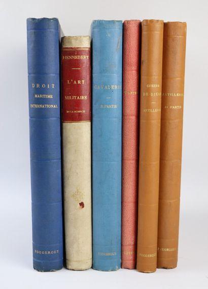 [ART MILITAIRE].  Ensemble de six ouvrages...