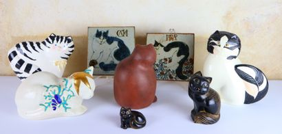 Collection de chats comprenant :  chat en...