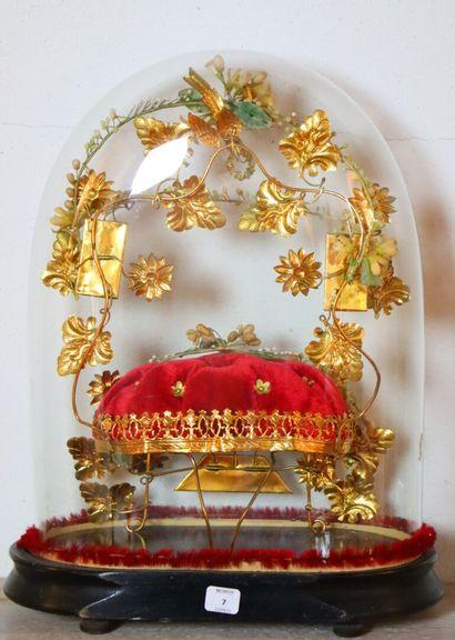 Globe de mariée.  Fin du XIXème siècle.  Hglobe_33,5...