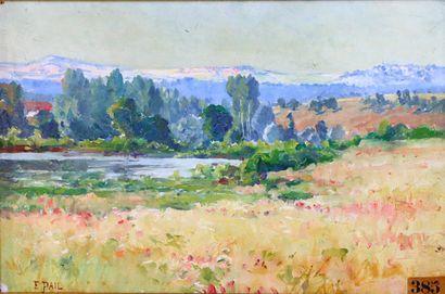 Edouard PAIL (1851-1916).  Point d'eau dans...